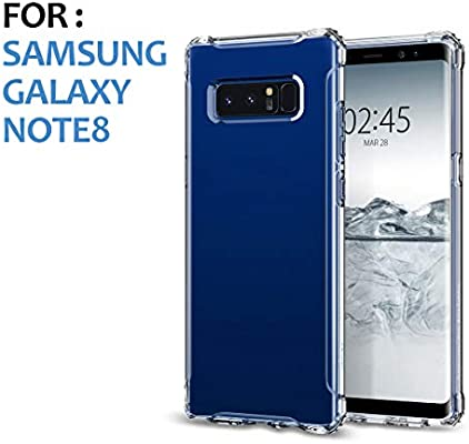 Swark Funda Protectora de Silicona TPU para Samsung Note 8, Suave y Transparente, con diseño de Acolchado de Aire, Ultrafina, antichoques, ...