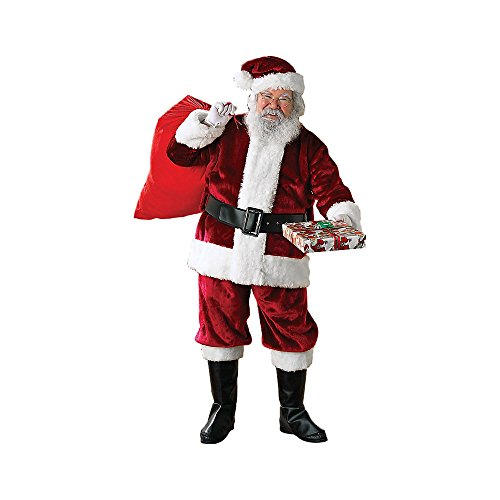 Crimson Regency Plush Adult Santa Suit