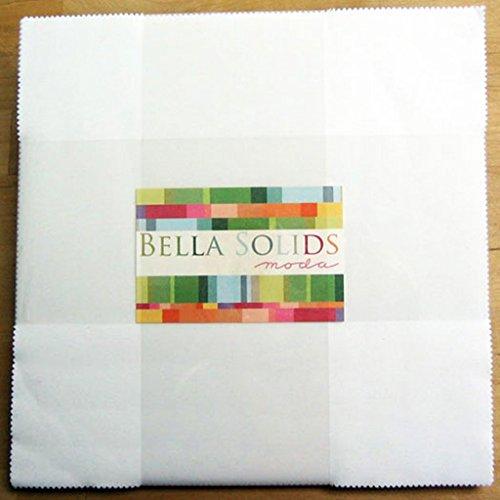 (Bella Solids White Layer Cake 42 10-inch Squares Moda Fabrics 9900LC 98)