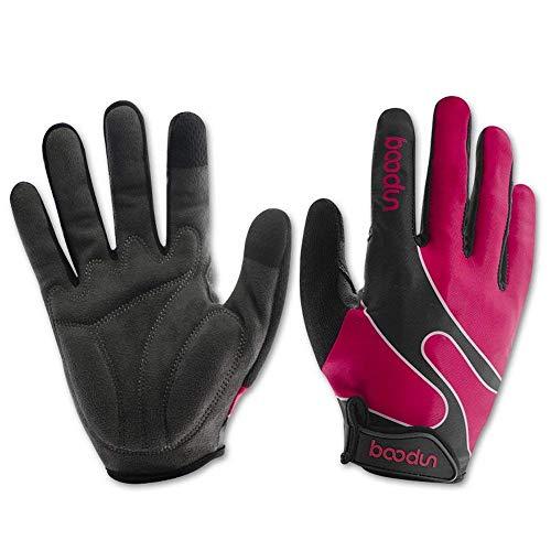 Anser 2130042 Riding Gloves Cycling Gloves Breathable Bike Gloves Bicycle Gloves Sport Gloves for Children or Women (Full Finger (Pink), L) ()