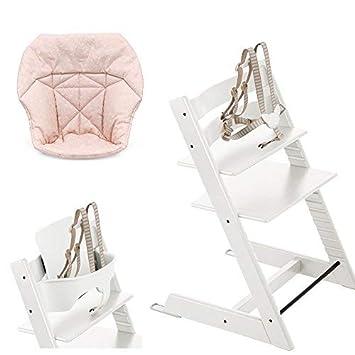 Amazon.com: Stokke Tripp Trapp con Set de bebé, blanco ...