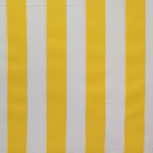 Yellow Stripe Upholstery Fabric - Stripe Indoor Outdoor Waterproof Canvas Yellow White Fabric By the Yard (F.E.)