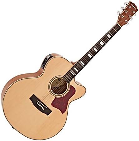 Guitarra Electroacustica Jumbo de Gear4music Natural: Amazon.es ...