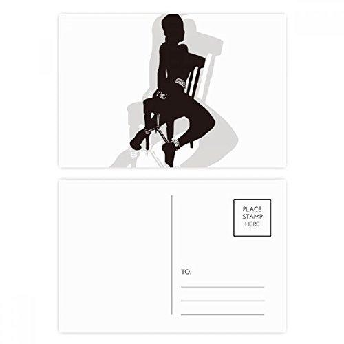 Bound Sm Hot Beautiful Woman Postcard Set Birthday Thanks Card Mailing Side 20pcs by DIYthinker