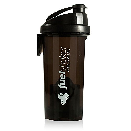 FUELSHAKER Ice Series Shaker Bottle with Fueler. 2016 Model (Ice Black)