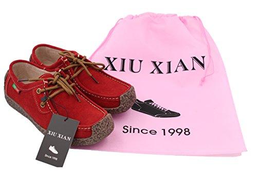 xiu-xian-women-snail-casual-lace-up-genuine-leather-flat-sneaker-shoes