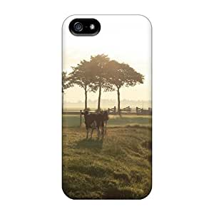 FashionE-Space Case Cover Iphone 5/5s Protective Case Animals Cows