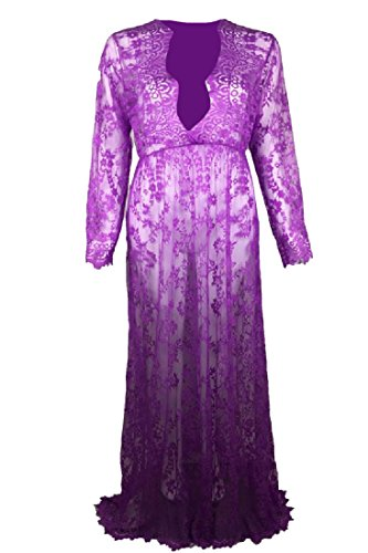Coolred Lace Purple and Crochet Fit Tuxedo Women Perspective Flare Dress rpqwfr