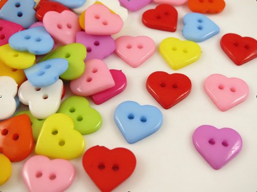 tic Heart Button/sewing Lots Mix ()