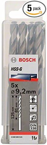 2mmx3.19inx4.92In 5 Pcs Bosch 2608585516 Metal Drill Bit Hss-G 9