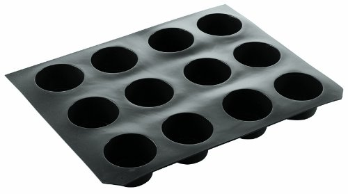 Paderno World Cuisine 2 3/4 Inch by 1 1/2 Inch Non-Stick Silicone Muffin Mold. World Cuisine Muffin Pan