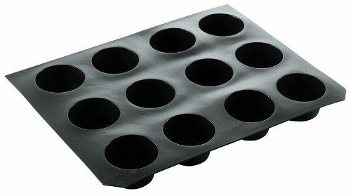 Paderno World Cuisine 2 3/4 Inch by 1 1/2 Inch Non-Stick Silicone Muffin Mold.