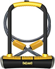 OnGuard Pitbull DT U-Lock with 4-Inch Cinch Loop Cable (Black, 4.53 X 9.06-Inch)