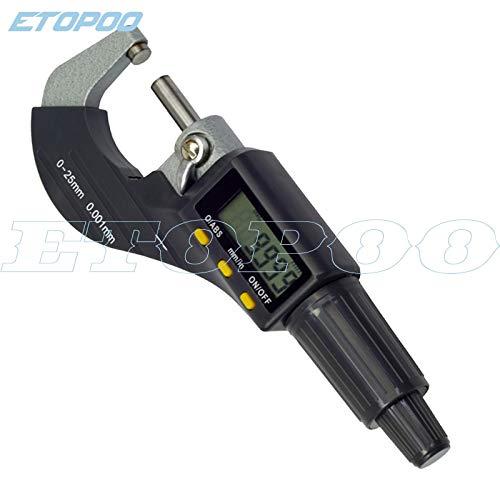TOSHUN 1PCS 0-25mm digital electronic 0.001mm micron outside micrometer caliper gauge