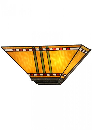 Meyda Tiffany 151162 Prairie Corn Wall Sconce, 16