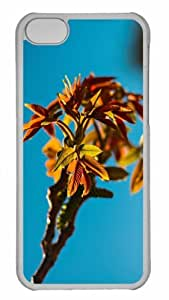 Customized iphone 5C PC Transparent Case - Tree Branch Personalized Cover by mcsharks