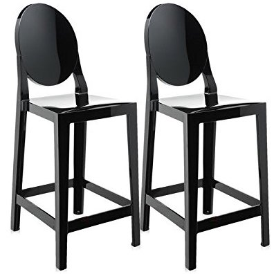 2xhome - Set of Two (2) - Black - 30