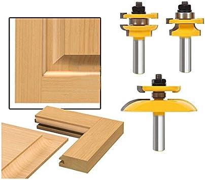 Puerta de entrada KATUR de 2 piezas para fresas de espiga larga cortadora de espiga larga fresa para trabajar la madera con v/ástago de 1//2 pulgada para herramienta de carpinter/ía v/ástago de 1//2