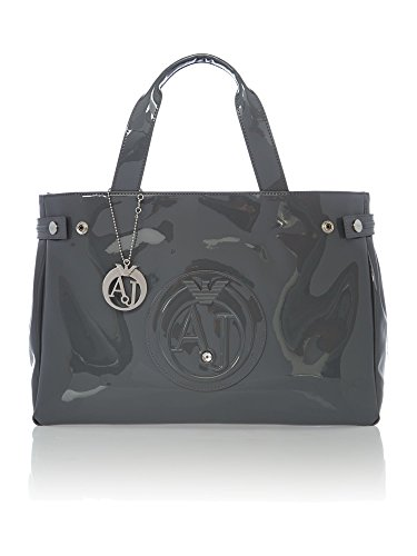 armani-jeans-large-embossed-logo-patent-vinyl-bag-with-dhl-express