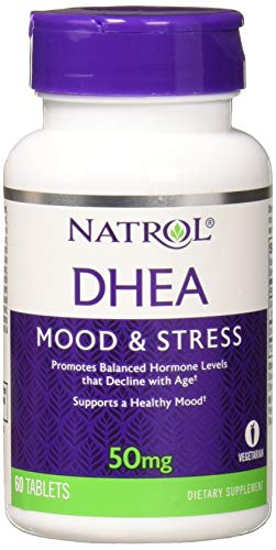 Dhea 50 Mg 60 Capsules - Natrol DHEA 50mg, 60 Tablets (Pack of 3)