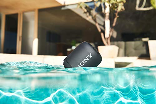 Sony SRS-XB12 Extra Bass Portable Bluetooth Speaker (Black) with Hardshell Carrying Case Bundle (2 Items)