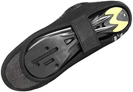 サイクリングシューズカバー 自転車乗馬防風防水靴カバー屋外の乗馬用品 シューズカバー (Color : Black, Size : Small size)