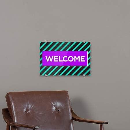 27x18 Welcome Modern Block Premium Acrylic Sign 5-Pack CGSignLab
