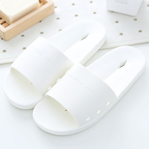 ambienti chiusi estate da perde pantofole estate in home donna plastica non pantofole DogHaccd cool slip pantofole maschio Bianco bagno Bagno che in giovane home wqvFzAx4