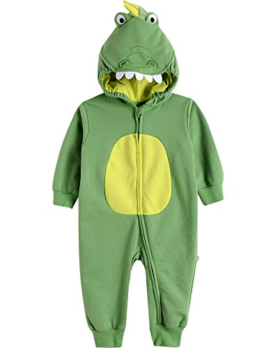 Vaenait Baby 6-24M Boys Infant Hooded Jumpsuit Rompers Green dino S