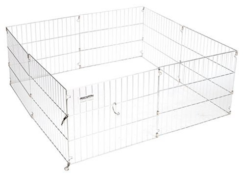 Precision Pet Pro Handler Indoor Outdoor Exercise Pen, Silver