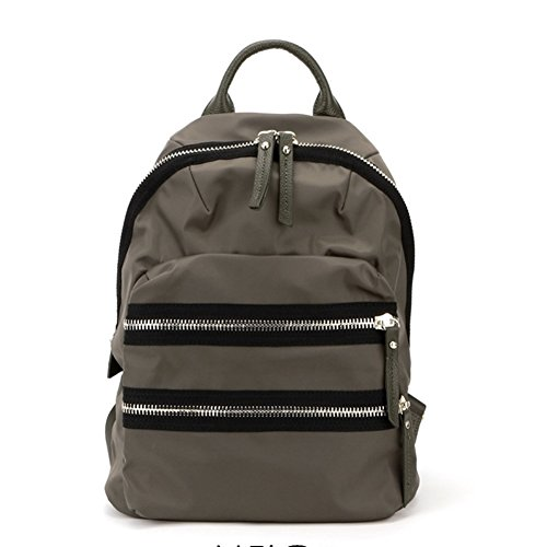 VF P914 Two Zipper Backpack Brown by Violett-Backpacks