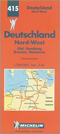 Map Of North West Germany.Michelin Germany Northwest Map No 415 Michelin Maps Atlases