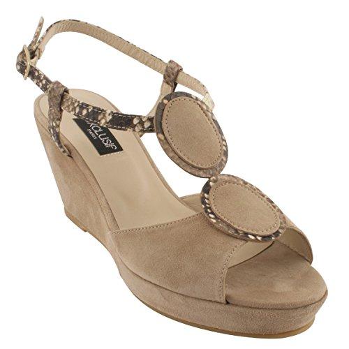 Exclusif Paris Women's Fashion Sandals Taupe SWqxR