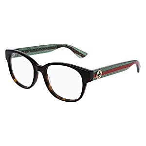 Gucci GG 0004OA 002 Asian Fit Black Plastic Square Eyeglasses 55mm