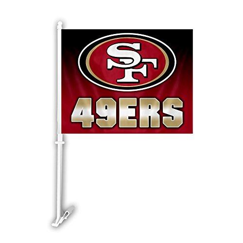 NFL San Francisco 49ers Car Flag with Wall Bracket, Team Color ()