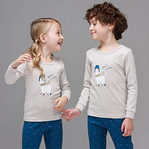 Mini-K Toddler Boys Girls Christmas X-Mas Pajamas Sleepwear Pyjamas Set Long Sleeve 2 Piece Set
