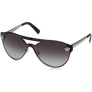 Versace VE2161 Sunglasses 10008G-42 - Silver Frame, Gray Gradient VE2161-10008G-42