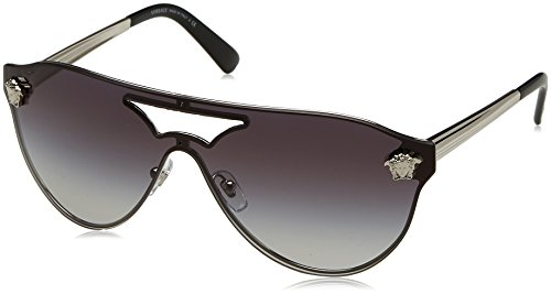 Versace VE2161 Sunglasses 10008G-42 - Silver Frame, Gray Gradient - Womens Versace