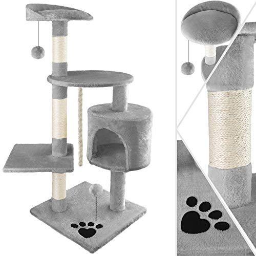 KESSER® Kratzbaum Katzenbaum Kletterbaum, mit Sisalstämmen, Stabil, mit Höhle, Spielbälle, Spielsisal & Spielseil, Höhe…