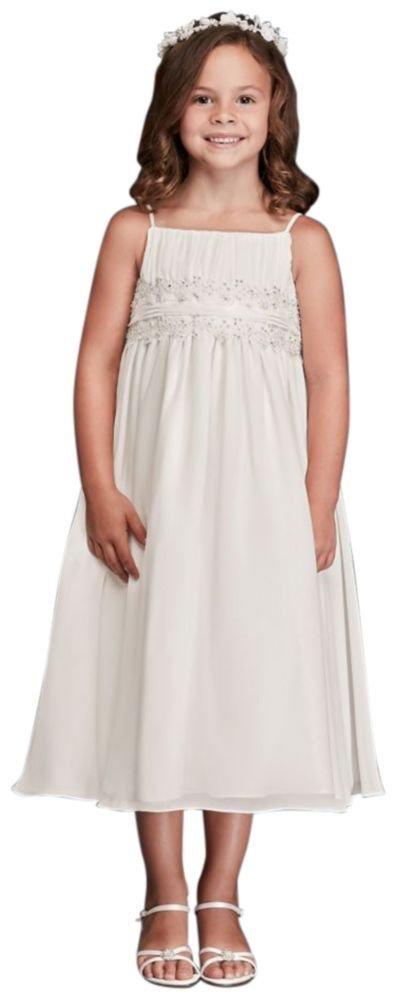 Spaghetti Strap Chiffon Baby Doll Flower Girl / Communion Dress Style FG9743,...