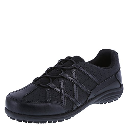 safeTstep Slip Resistant Women's Black Women's Alidra Slip-On 13 Regular by safeTstep