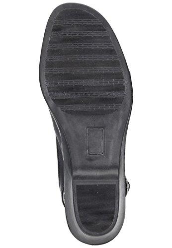 Sandalen 1 Damen Comfortabel Schwarz Leder Schwarz 710751 gZwcFc0qp
