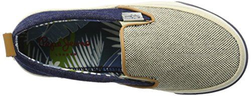 Pepe Jeans London Traveler Raffia, Zapatillas para Niños Azul (Naval Blue)