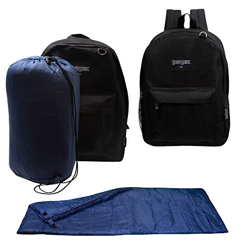 Bulk Case of 10 Backpacks and 10 Sleeping Bags – Emergencies, Homeless, Charity