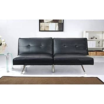 Amazon.com: Sofa Bed Couches Sleeper Sofas-Black Leather ...