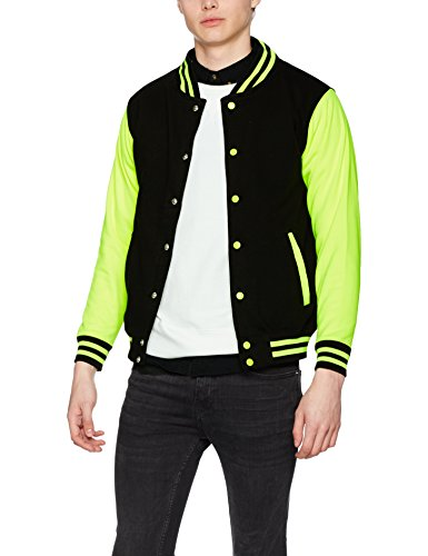 Electric Black Chaqueta Yellow Jet Multicolor Bomber Electric para Varsity AWDis Hombre Jacket xgRwfafv