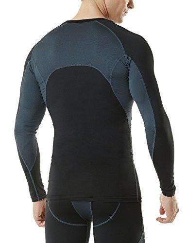 Tesla Men's Mesh Side Back Panel Long Sleeved T Shirt Compression Baselayer MUD71 / TUD101 / R11 / R19