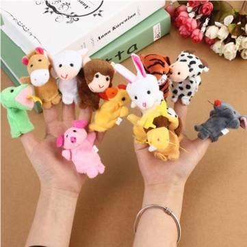 12x Family Finger Puppets Cloth Doll Baby Educational Hand Toy by (Diy Russian Costume)