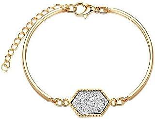 Z&YQ Femme Bracelets Rigides Bracelet Multi-Pierre Cadeau Coloré Résine Plaqué Or Alliage Bijoux Anniversaire