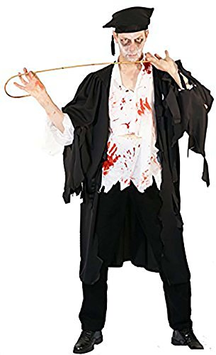 [Halloween-Victorian-Edwardian EVIL ZOMBIE SCHOOL MASTER - Hat & Zombie Make Up Pack - From Teen Size to XXXXL (XL)] (School Headmaster Costume)